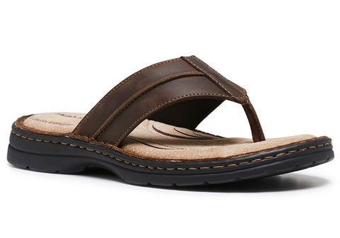 Hush Puppies Sail Mens Comfortable Leather Thongs