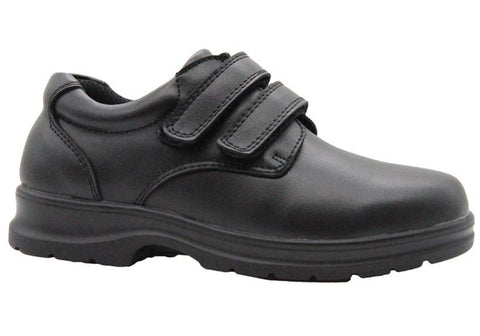 Grosby Evan 2 Kids Leather Durable Adjustable Strap School Shoes