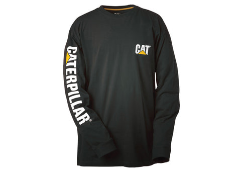 Caterpillar Mens Trademark Banner Long Sleeve Top