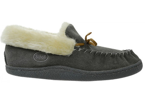 Scholl Orthaheel Panda Lace Trim Moccasin Comfort Indoor Slipper