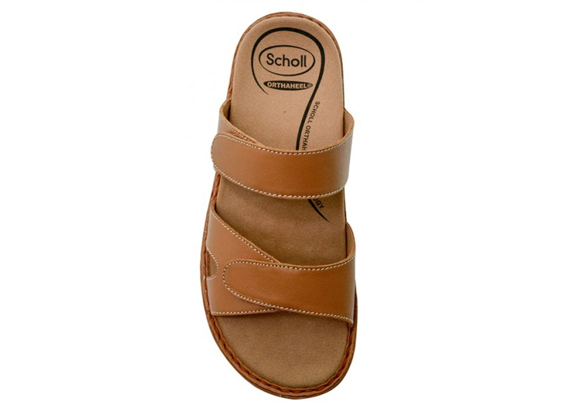 83c31723a690 Tan · Black · Black · Tan · Scholl Orthaheel Indulge Womens Comfort  Supportive Leather Sandals