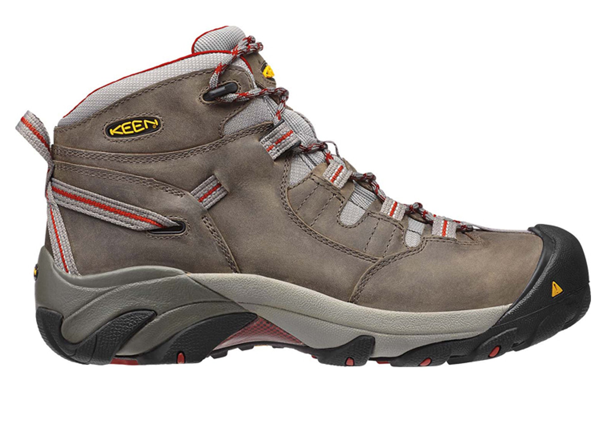 78dda8f07f Home Keen Detroit Mid Mens Steel Toe Lace Up Wide Fit Boots. Gargoyle Bossa  Nova; Brindle ...