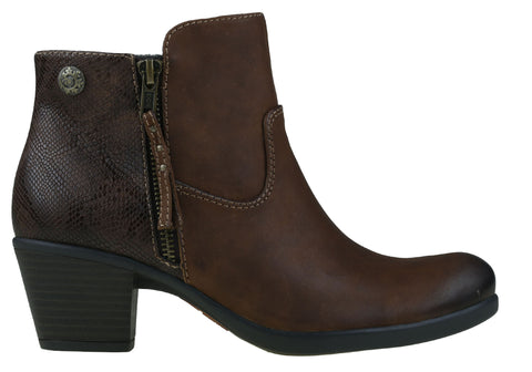 Planet Shoes Echo & Echo2 Womens Mid Heel Leather Ankle Boots