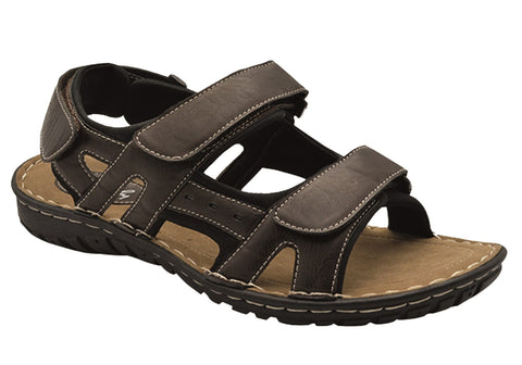 Grosby Justin Mens Comfortable Adjustable Strap Sandals