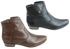 Andacco Danielli Womens Leather Comfortable Ankle Boots Made In Brazil