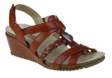 Planet Shoes Plume Womens Leather Comfort Wedge Sandals