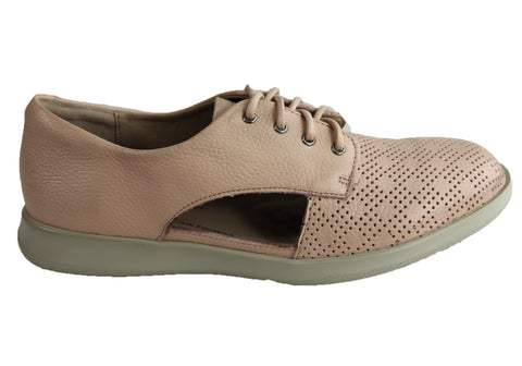 Homyped Cyrus Womens Supportive Comfortable Leather Lace Up Shoes