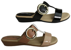 Modare Ultraconforto Iris Womens Comfort Slide Sandals Made In Brazil