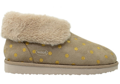Scholl Orthaheel Mellow Womens Warm Supportive Indoor Boots Slippers