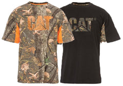 Caterpillar Mens Logo Camo Short Sleeve Tee TShirt