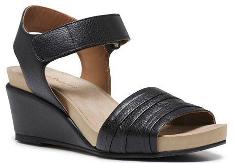 Hush Puppies Eivee Cassale Womens Leather Comfort Wedge Sandals