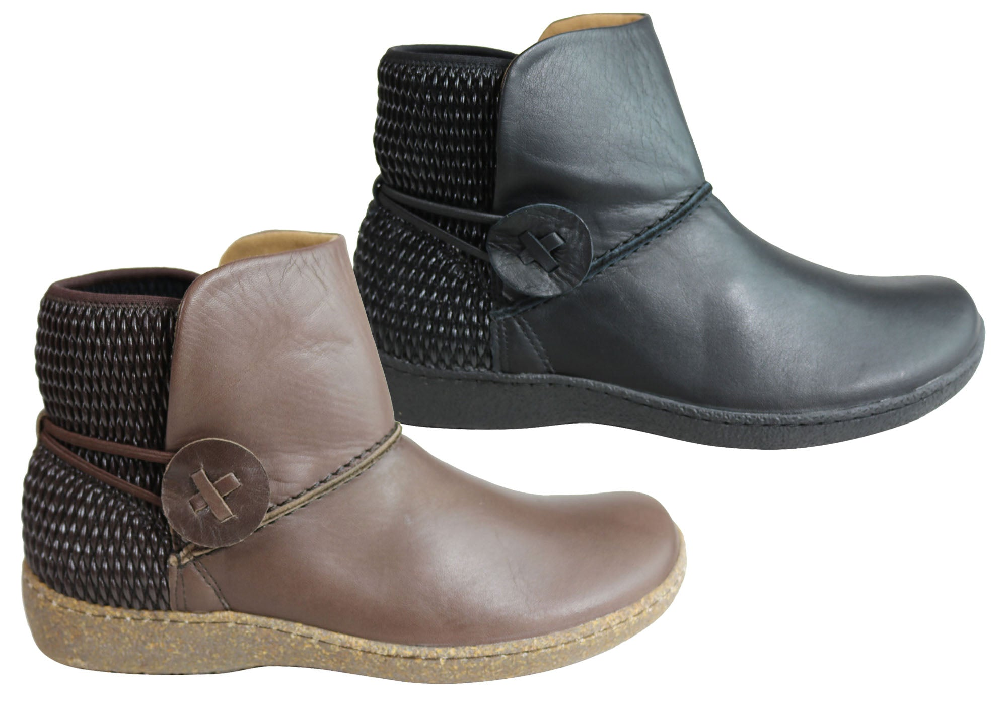NEW FLEX /& GO GAURA2 WOMENS COMFORT LEATHER ANKLE BOOTS MADE IN PORTUGAL