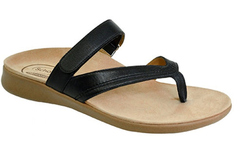 Scholl Orthaheel Fiasco Womens Comfort Supportive Leather Thongs