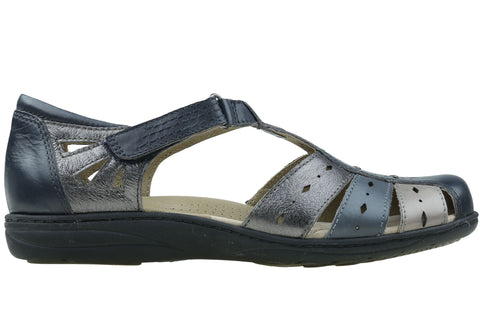 Planet Shoes Lesley Womens Comfort Leather Closed Toe Flat Sandals