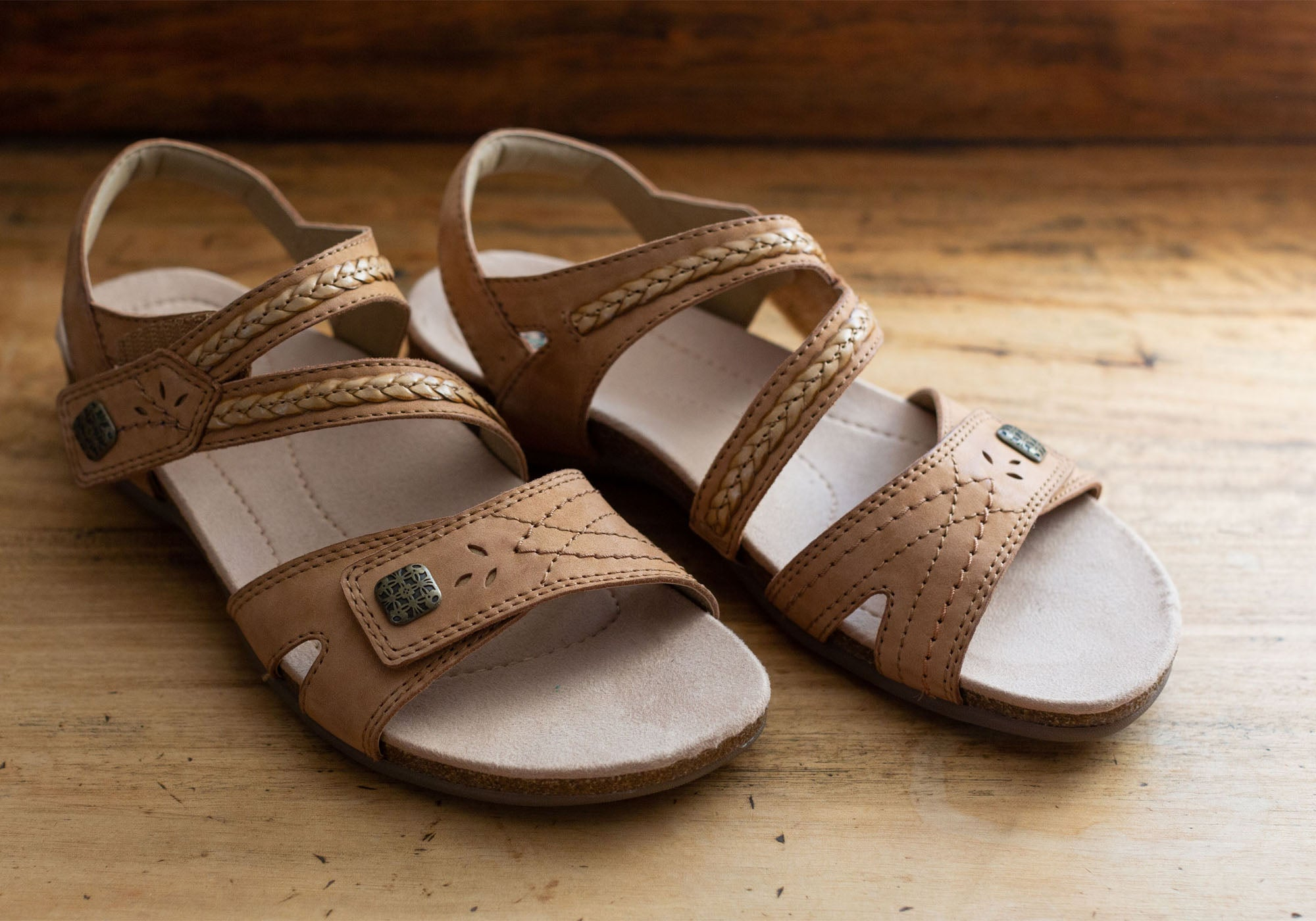 Planet Shoes Abby Womens Comfortable Supportive Flat Sandals