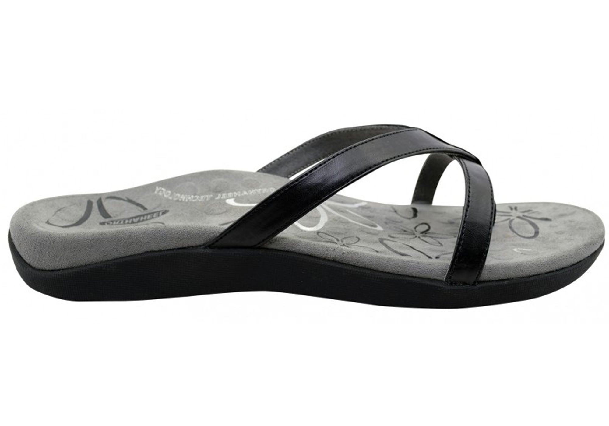 Orthaheel Scholl Orthotic Supportive Shaynna Thongs Black