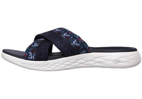 fbc510516 Skechers Womens On The Go 600 Monarch Cushioned Slide Sandals ...