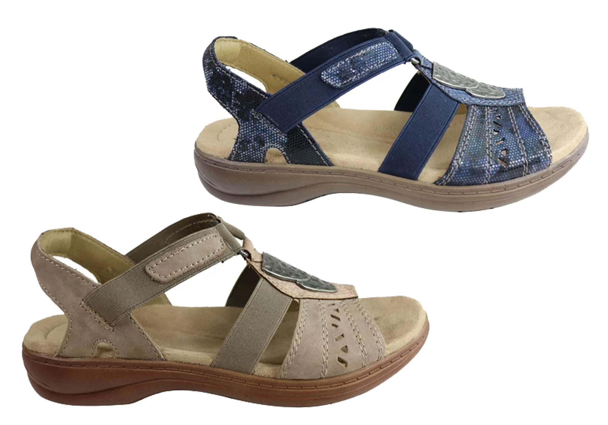 NEW PLANET SHOES TATIANA WOMENS COMFORTABLE LOW HEEL WEDGE SANDALS