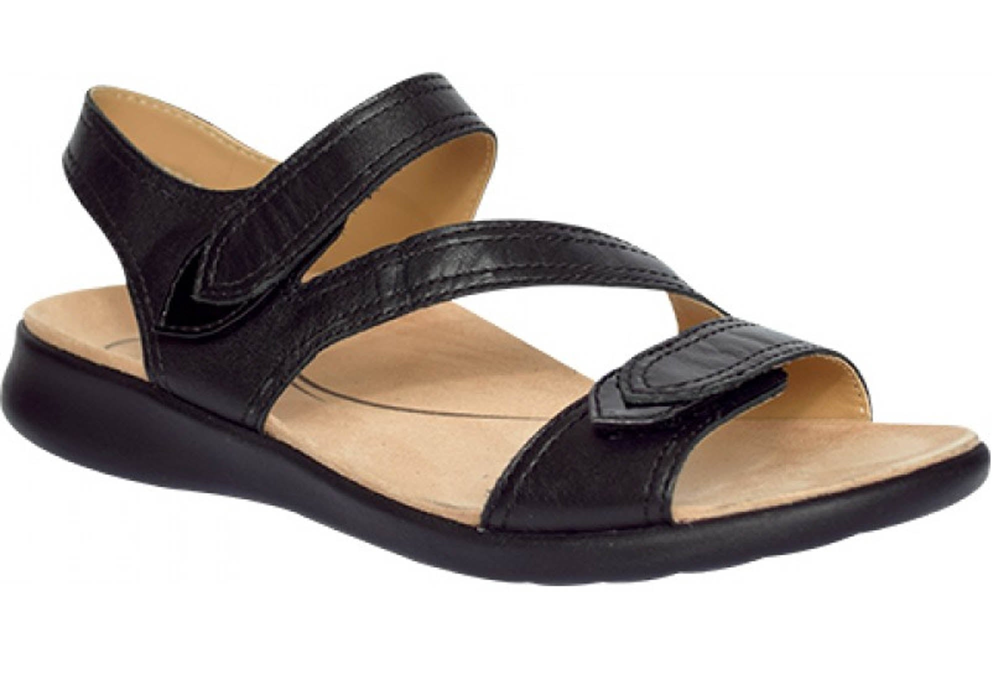 Details about Brand New Scholl Orthaheel Foster Womens Comfortable Supportive Leather Sandals