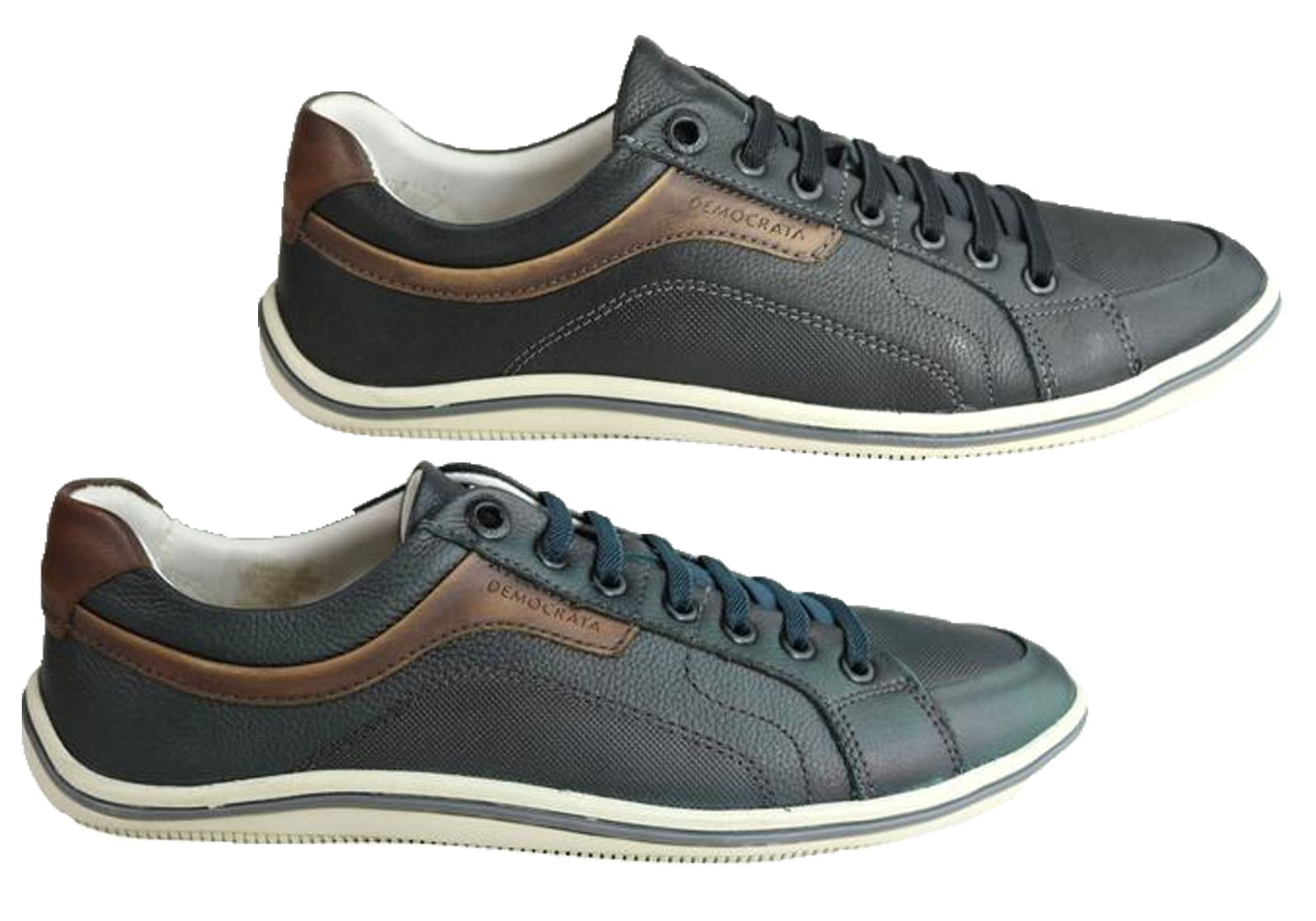 NEW-DEMOCRATA-MILES-MENS-LEATHER-SLIP-ON-CASUAL-SHOES-MADE-IN-BRAZIL