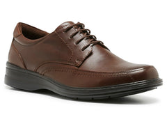 Hush Puppies Torpedo Mens Leather Wide Fit Shoes