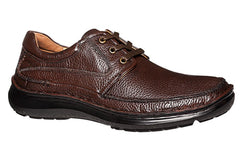 Hush Puppies Borrow Mens Leather Wide Fitting Shoes