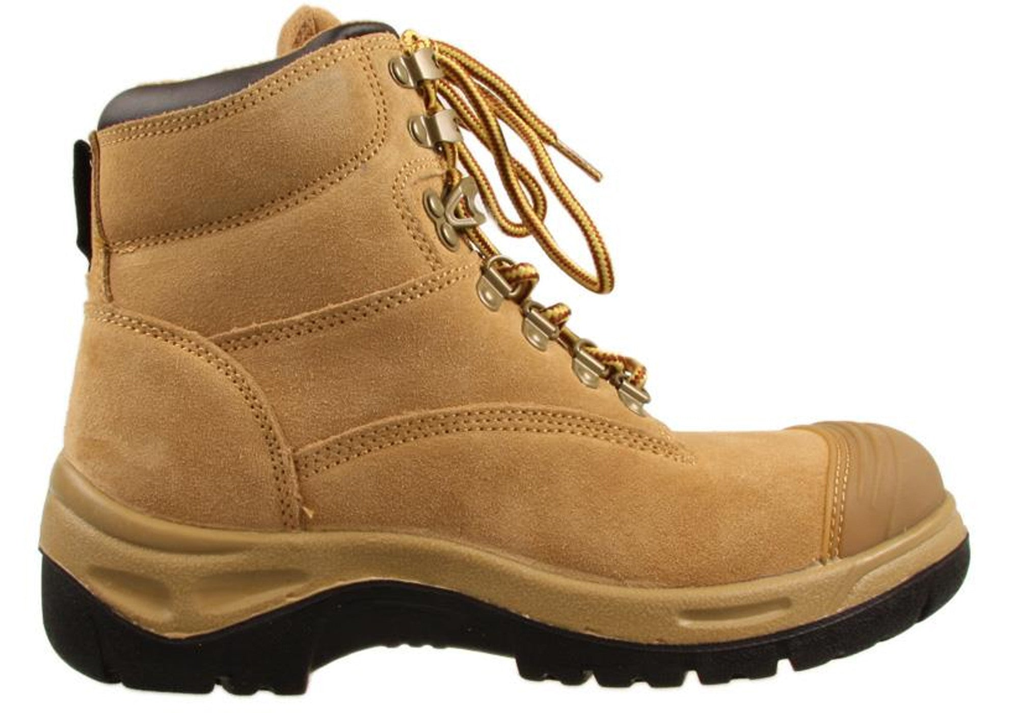 Woodlands New Darwin Mens Leather Steel Toe Work Boots With Side Zip ... fe54321d0