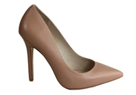 RMK Cadha Womens Leather High Heel Pointed Toe Pump Shoes