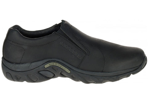 Merrell Mens Jungle Moc Black Leather Slip On Comfortable Casual Shoes