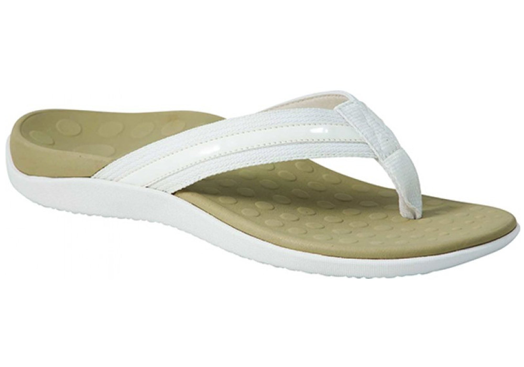 576162e0f0fd Home Scholl Orthaheel Tide II Womens Supportive Orthotic Thong Sandals.  Black · Natural White · White ...