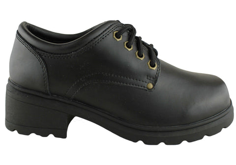 Primeovers Phoenix Womens/Older Girls Leather School Shoes