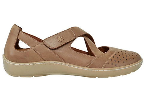 Scholl Orthaheel Wagga Womens Supportive Leather Mary Jane Flats