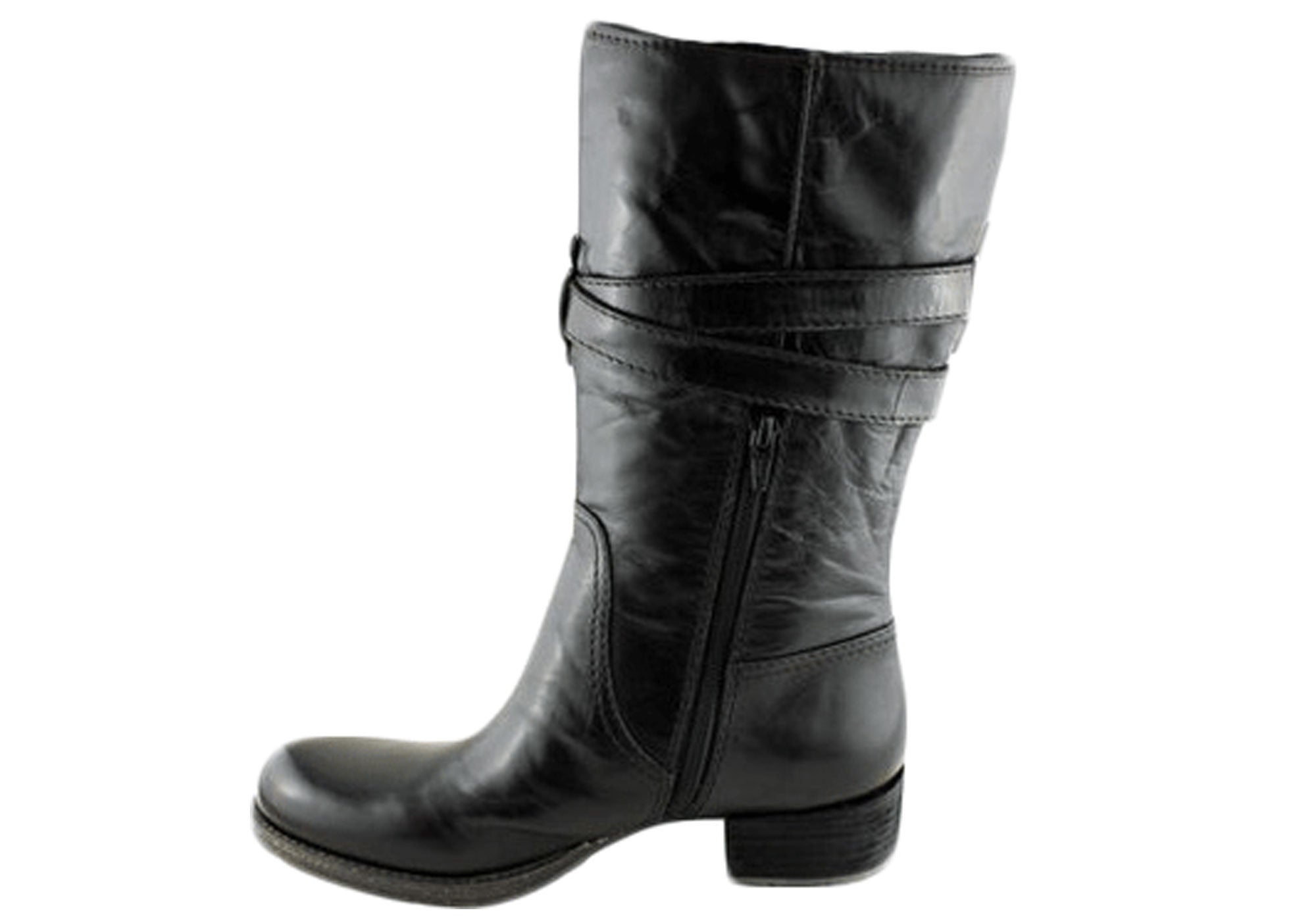 Naturalizer Saffron Womens Leather Mid Calf Boots