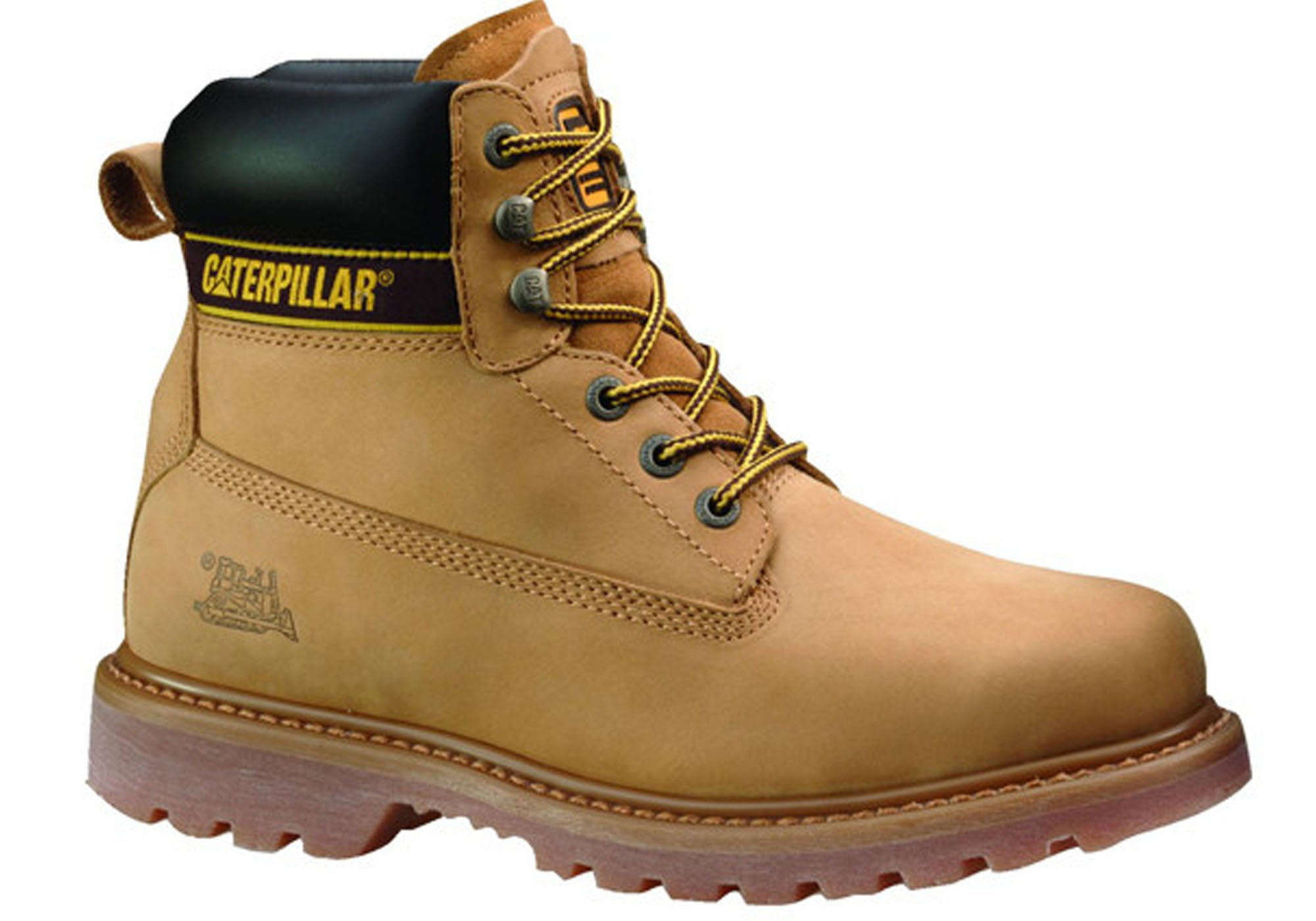 Caterpillar Cat Holton Laceup Steel Toe Mens Work Boots Brand