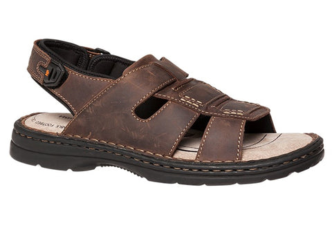 Hush Puppies Strike Mens Leather Wide Fit Sandals