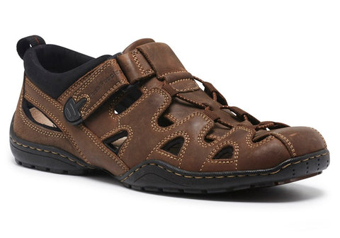 Hush Puppies Sentry Mens Wide Fit Leather Sandals