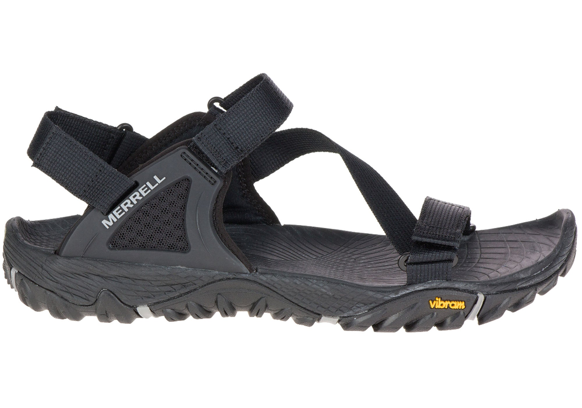 633c0783359 Home Merrell Mens All Out Blaze Web Sandals With Adjustable Straps. Black   Black