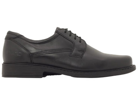 ROC Domain Senior Boys/Mens Comfortable Lace Up Leather Shoes