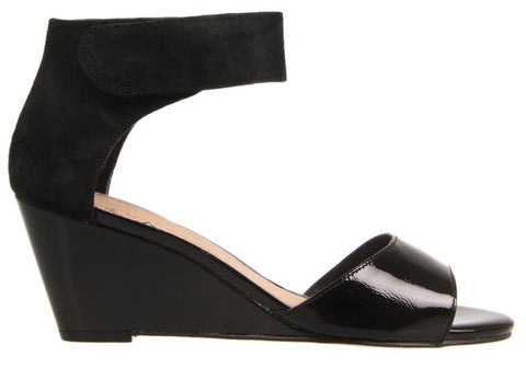 Hush Puppies Iris Womens Leather Ankle Strap Fashion Wedge Sandals