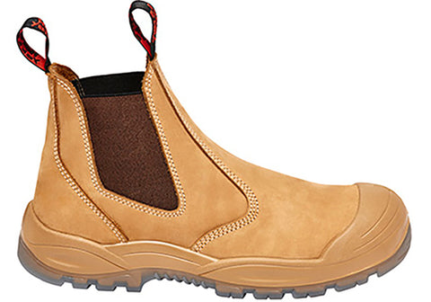 Hard Yakka Mens Utility Gusset Pull Up Safety Steel Toe Boots