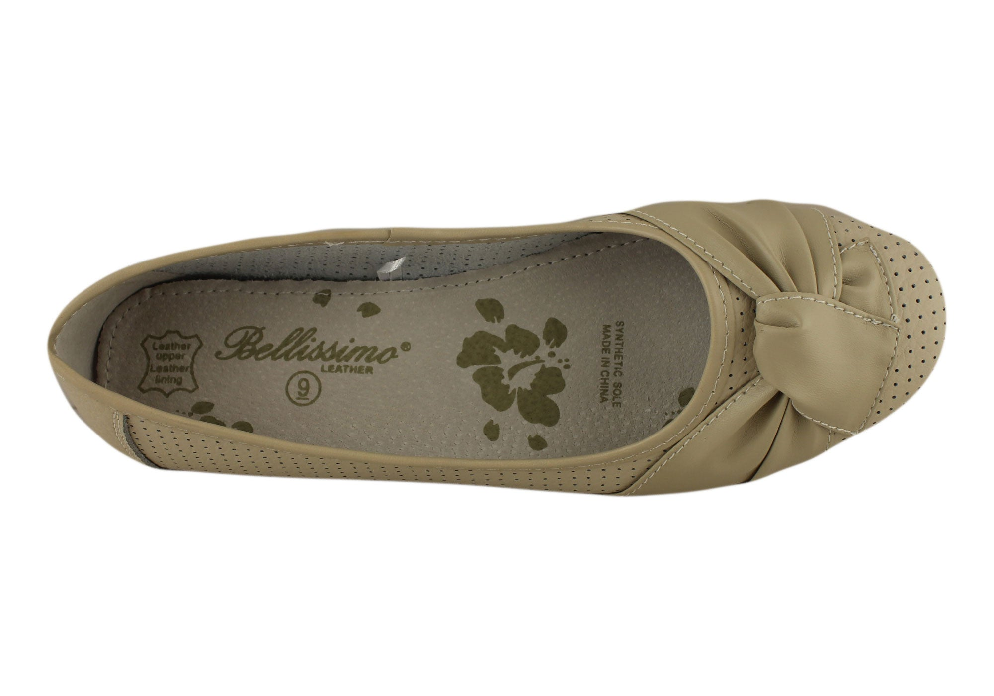 Bellissimo Argyle Womens Soft Leather Ballet Flats