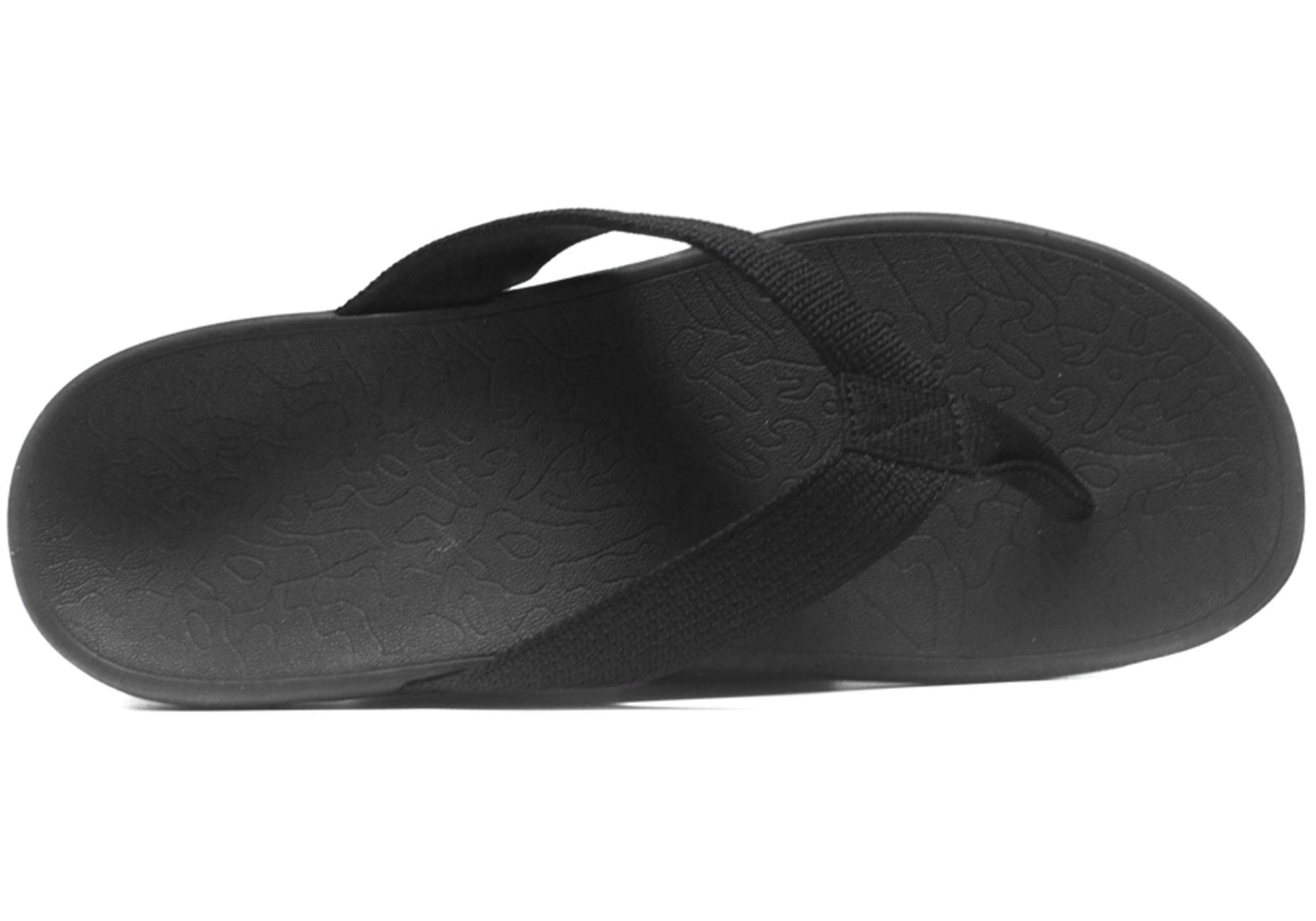 b45721d10ace13 Home Axign Womens Comfortable Supportive Orthotic Flip Flops Thongs. Black  ...