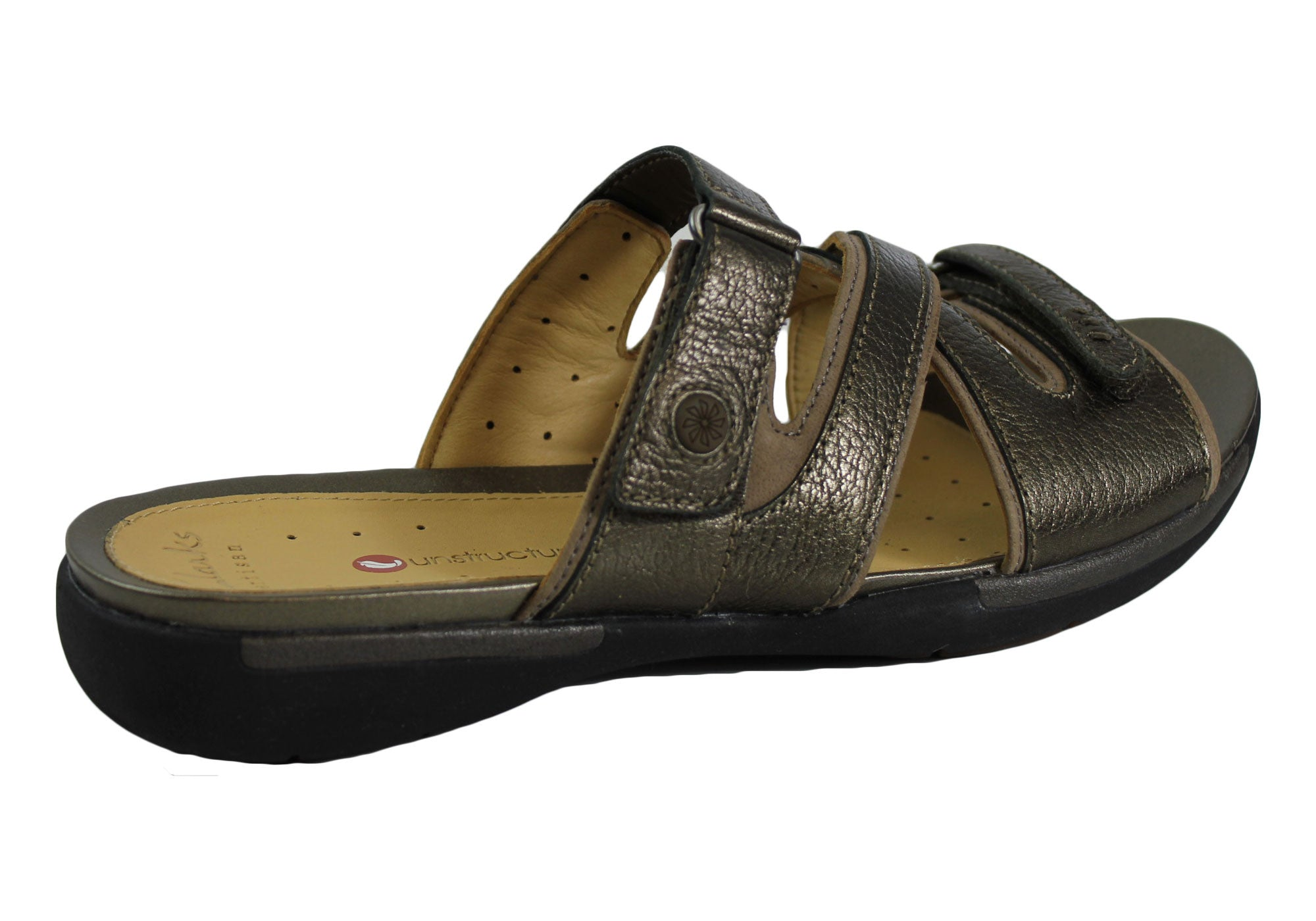 Clarks Un Verlee Womens Leather Slides/Sandals
