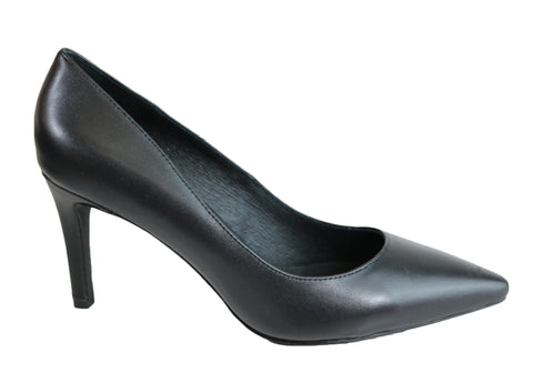RMK Abra Womens Mid Heel Leather Pointed Toe Pump Shoes