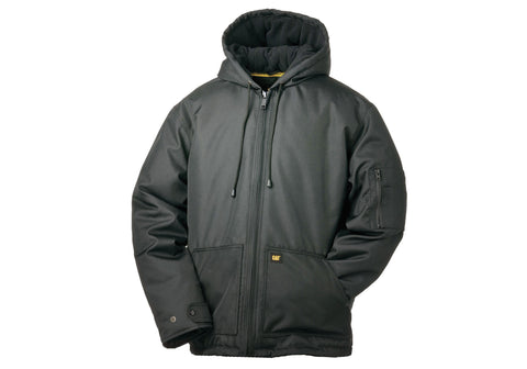 Caterpillar Mens Core Insulated Bomber Hooded Jacket
