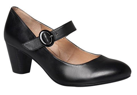 Hush Puppies Brea Womens Leather Mary Jane Pumps