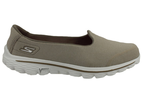 Skechers Go Walk 2 Womens Super Sock Bind Casual Shoes