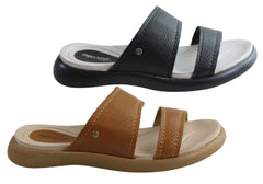 Pegada Sue Womens Brazilian Comfort Cushioned Leather Slides Sandals