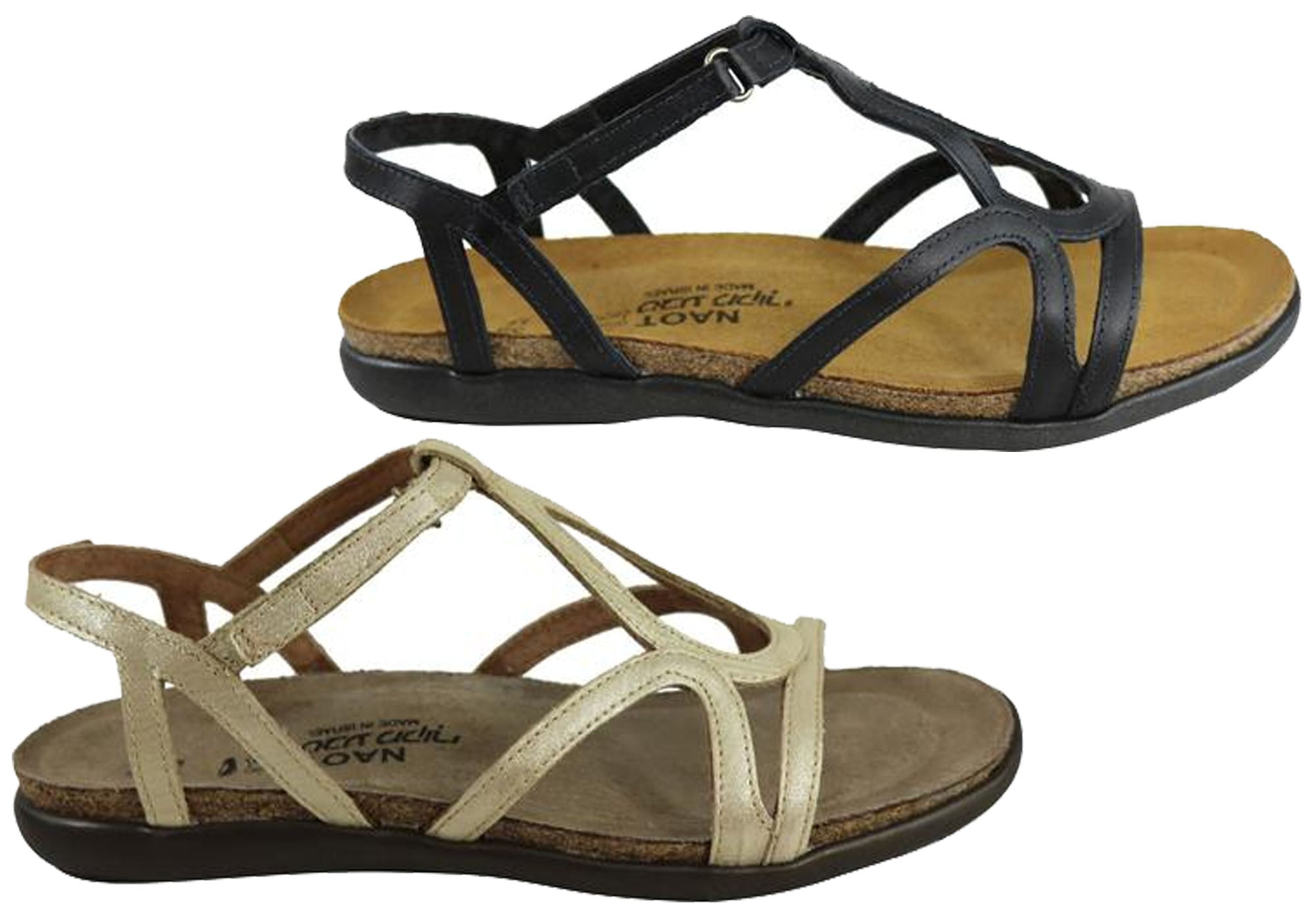 ae167e1196e New Naot Dorith Womens Comfort Cushioned Supportive Flat Leather ...