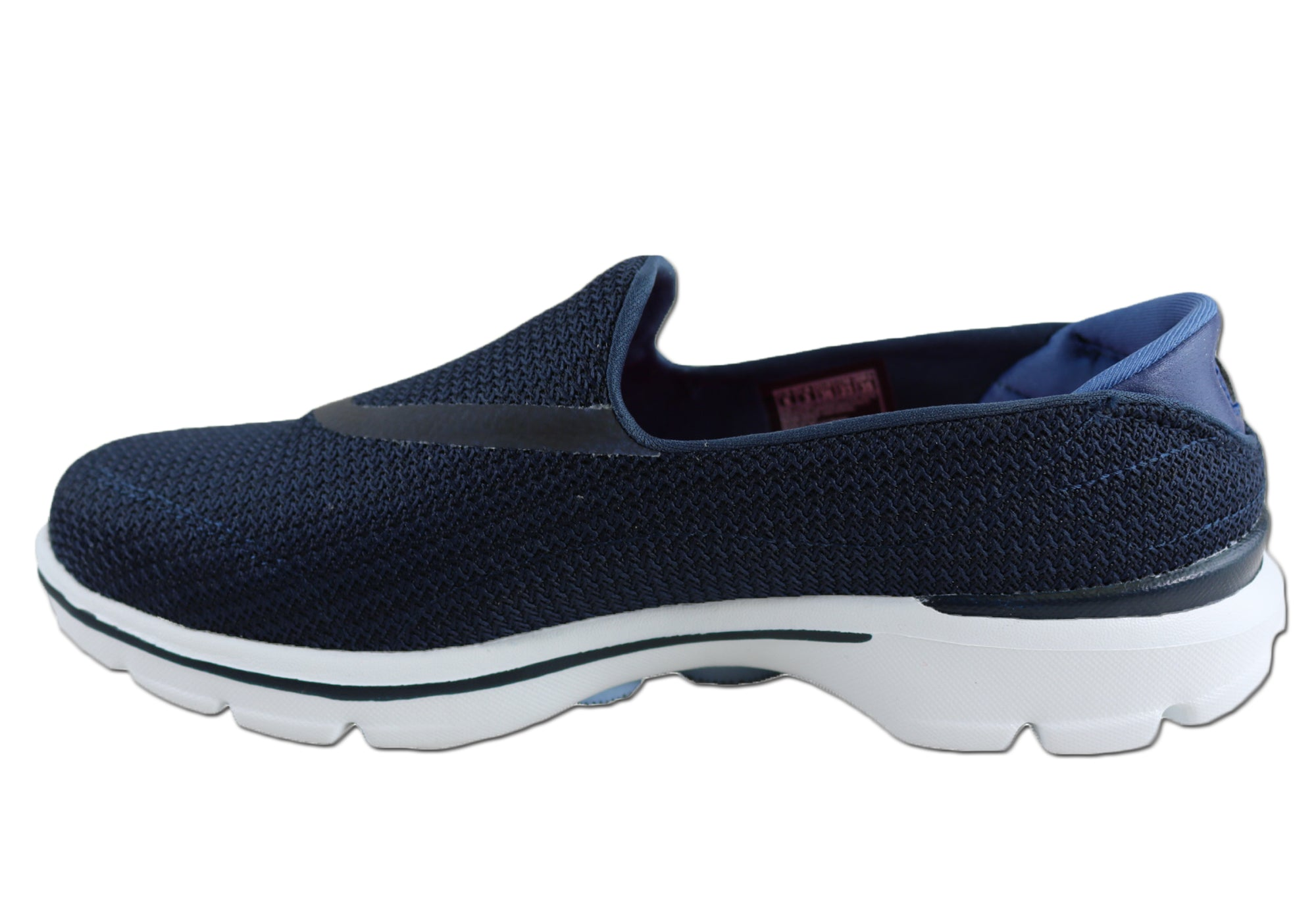 96528c20ee6a9 Skechers Go Walk 3 Womens Navy Lightweight Cushioned Comfort Slip On Shoes